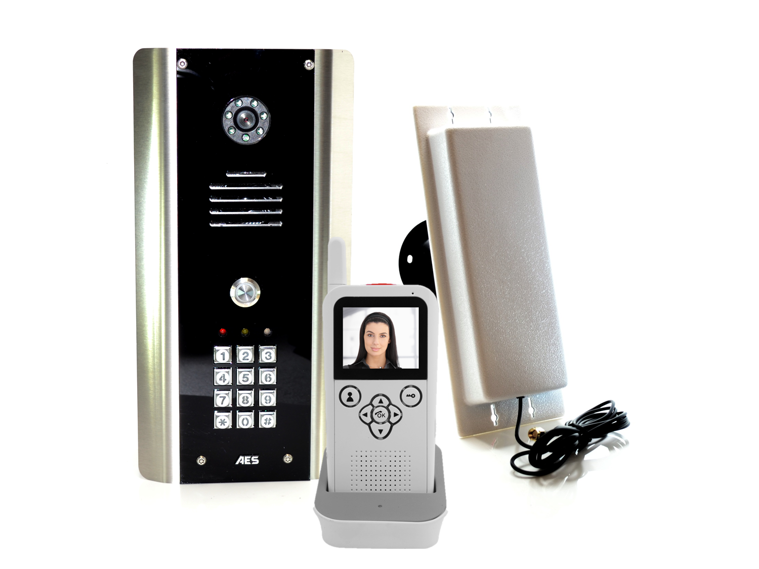 Aes 705 Abk Dect Cordless Video Intercom System