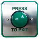 Green Domed Push to Exit Button